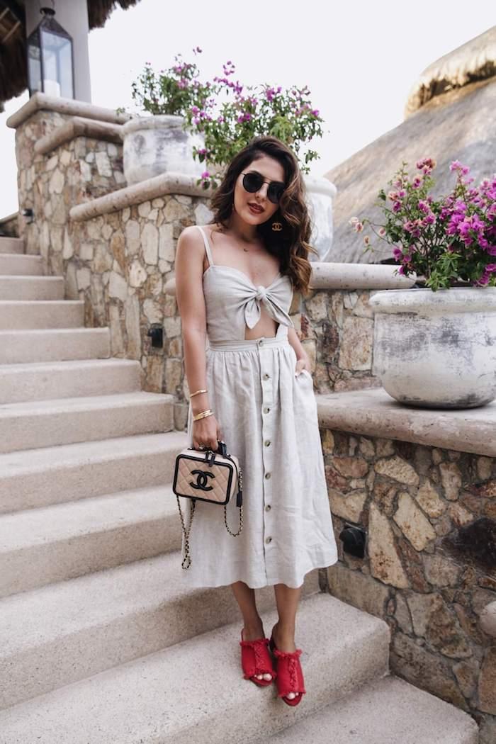 Weibes kleid fur den sommer