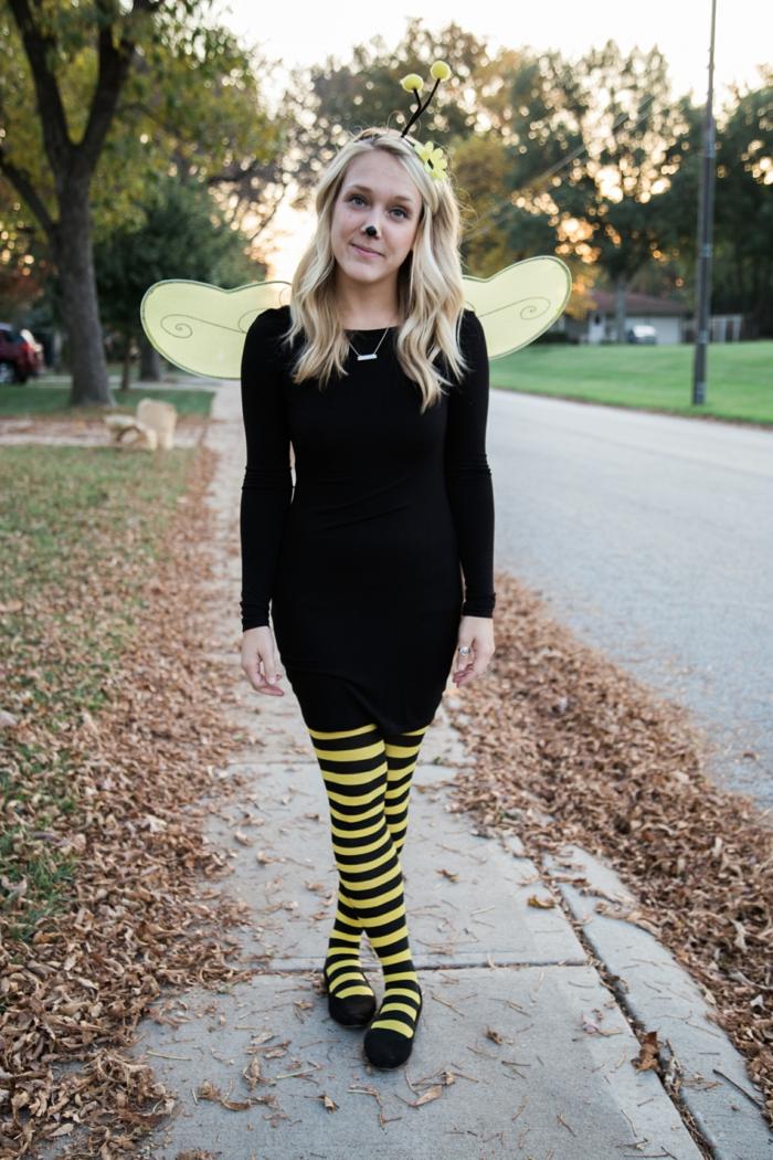 ein Kostüm von Biene ist schnell anzufertigen - coole Faschingskostüme