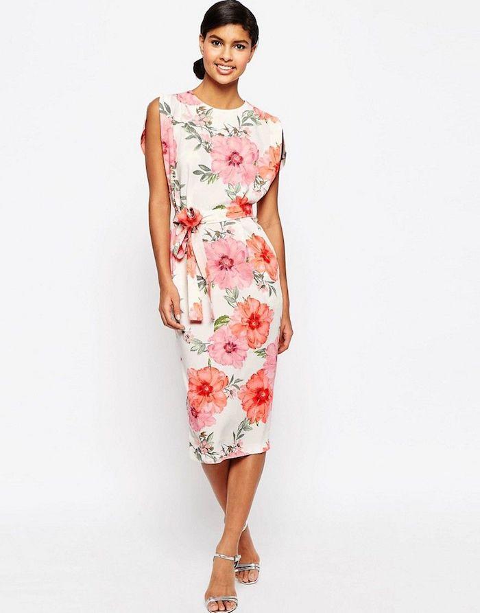 Kleid mit grossen blumen