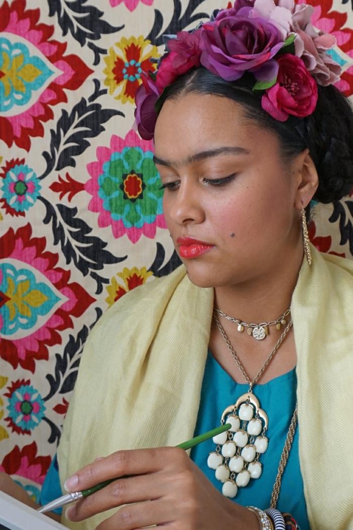 coole Faschingskostüme für Frauen - eine Darstellung von Frida Kallo