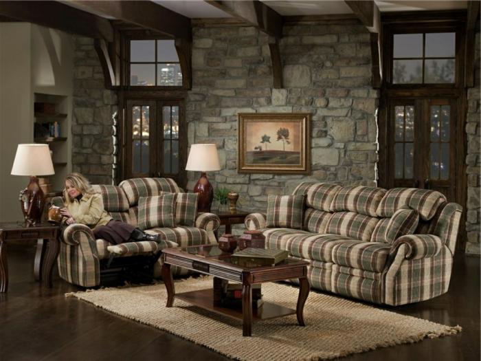 das Wohnzimmer lässt uns heimelich fühlen Wandverblender aus Naturstein