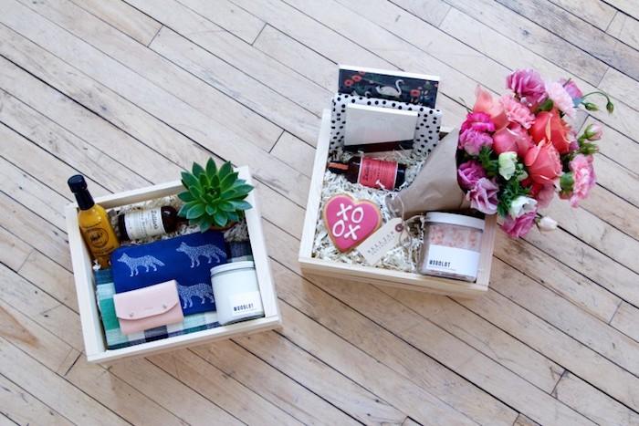 valentinstag geschenke für männer und frauen sich einander geschenkkasten vorbereiten