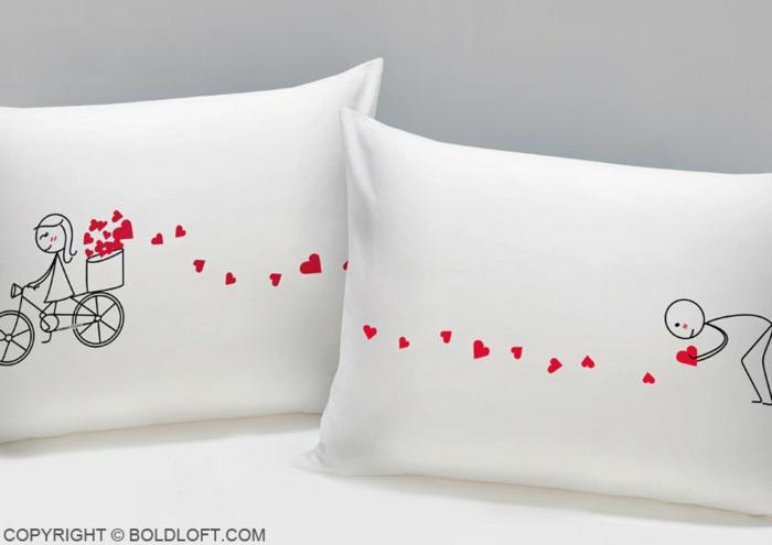 Kissen für Paare mit lustigen Bildern, romantische Geschenkideen zum Valentinstag, Valentinstagsgeschenke für Männer
