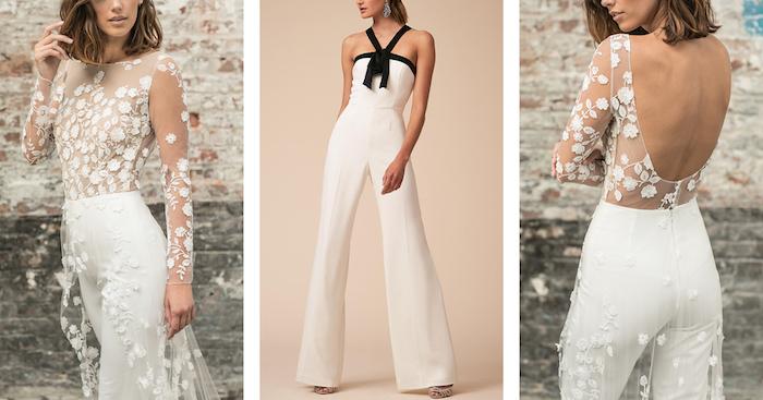 jumpsuit kurz damenmode ideen und inspirationen schöne designs mit nacktem rücken oder schwarze dekorationen schleife