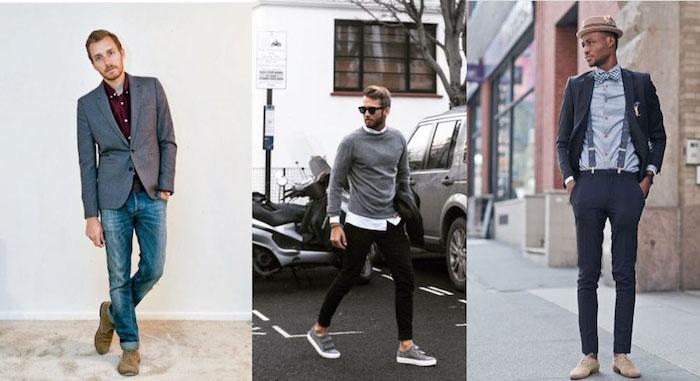 beige hose kombinieren mit blazer und hemd jeans mit sakko und bluse sich auch coole casual entscheidung