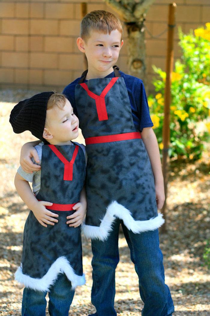 Eiskönigin Kostüme für Jungen zum Selbermachen, zwei kleine Prinzen