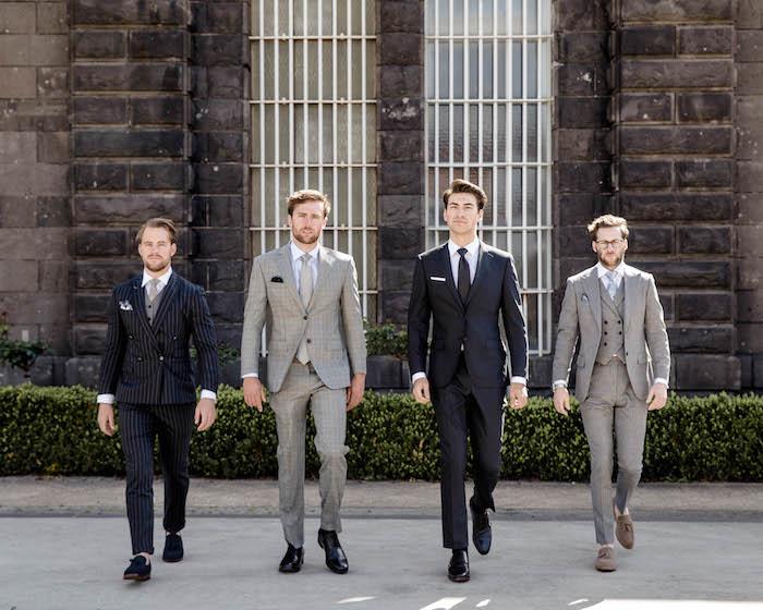beige hose kombinieren anzug bestandteile grau beige dunkelblau schwarz klassische entscheidungen männerstyle