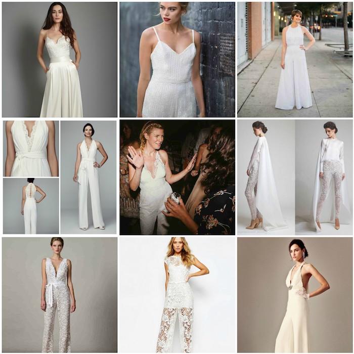 Hier sind neun perfekte Ideen für Jumpsuit Hochzeit Ideen zum Erstaunen Party Bekleidung Hochzeitsfeier Outfit Ideen kreativ weiße Overalls