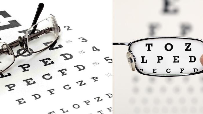 operation brille lesen buchstaben erkennen augen behandlung prüfen ob die augen gesund sind