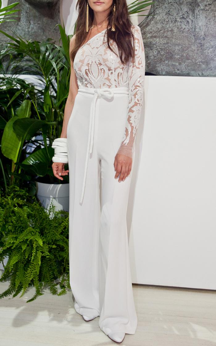 kreatives und schönes design von jumpsuit elegant mode für damen spitze mode design große schmuckstücke