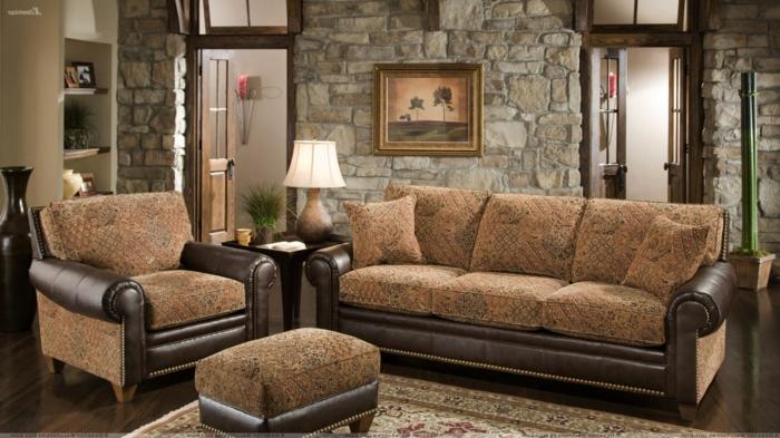 alle Wohnzimmermöbel stimmen ab, Wandverblender aus Naturholz