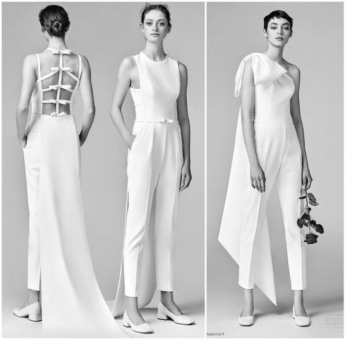 schwarz weiße outfits Jumpsuit Hochzeit Idee schöne elegante modelle mit klassischem design schnitt klasse eleganz