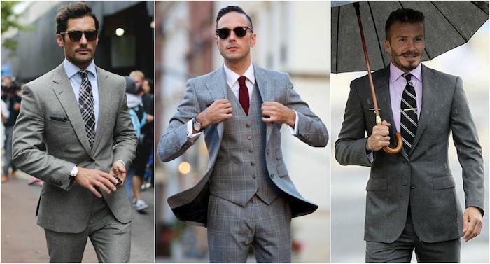 welches hemd weißes oder schwarzes hemd unter dem sakko tragen krawatte hose anzug ideen männer david beckham regenschirm rosa hemd