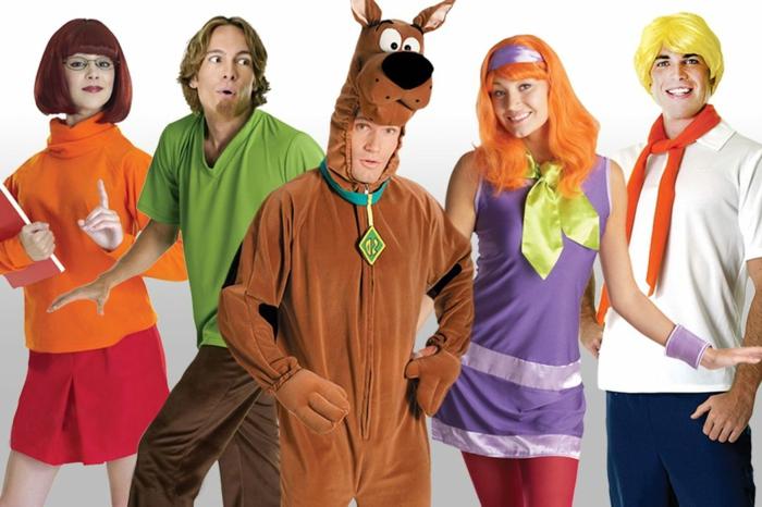 Karneval Motto - die Hauptfiguren aus Scooby Doo Zeichentrickfilm