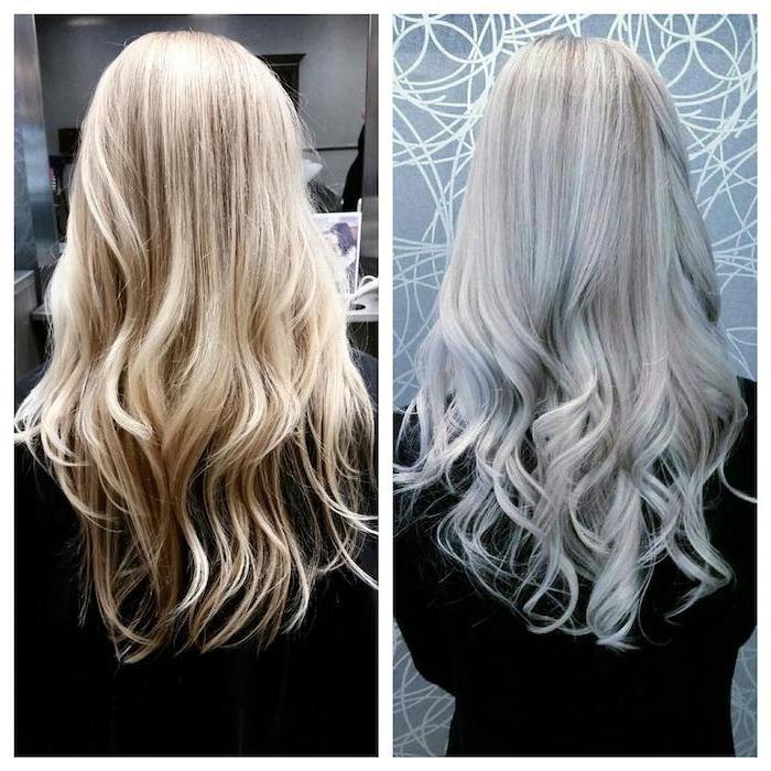 wie aus blonden Haare, graue Farbe zu erreichen - ganz einfach - Haare grau tönen
