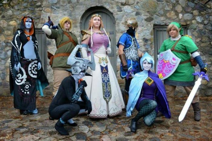 The Legend of Zelda - Karneval Motto für eine große Gruppe von Freunden