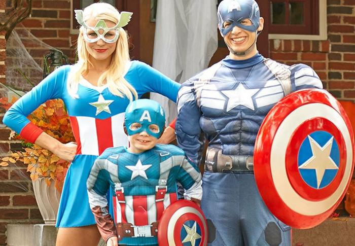 die Familie von Captain Amerika - Superhero Mottoparty Themen zum fest