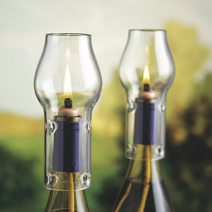 Lampen aus glasflaschen wohn design for Lampen n und l