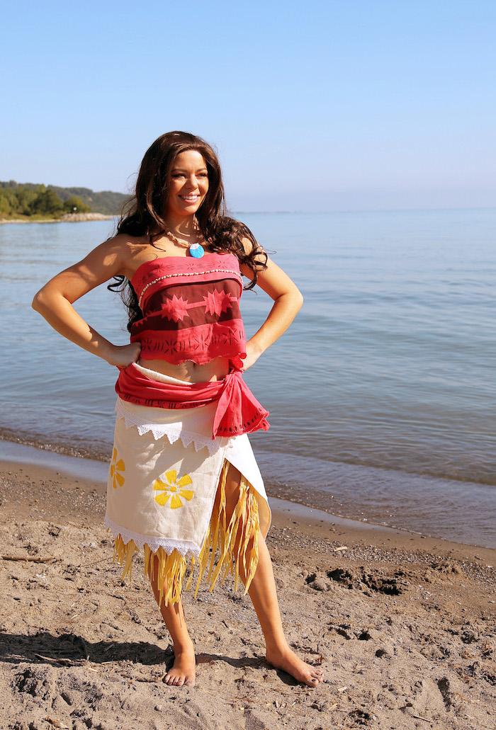 Vaiana Kostüm für Fasching oder Halloween selber nähen und verzieren
