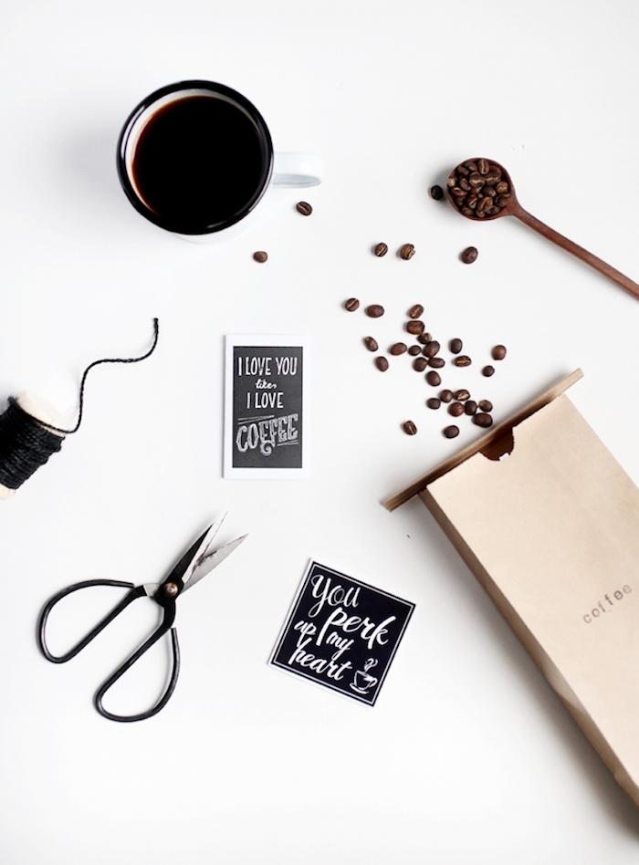 valentinstag karte oder verpackung für etwas ganz besonderes das der partner mag kaffee kaffeesorten schenken