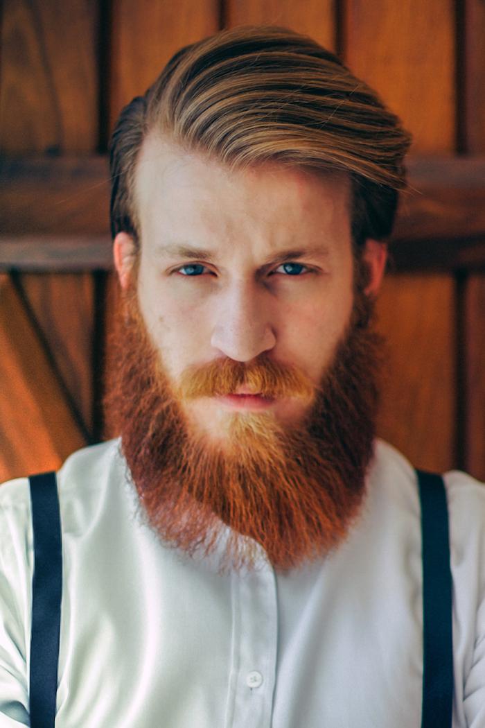 was ist ein hipster hier sehen sie ein mann mit langem roten bart bard style ideen blaue augen hosenträger weißes hemd