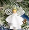 weihnachtsengel basteln schöne engel basteln engel aus rüschenband weiß
