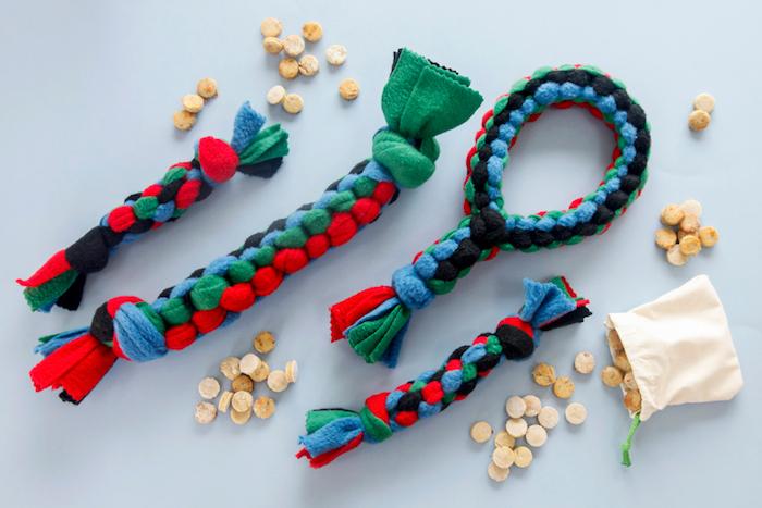 hundespielzeug für große hunde, selbstgemachte spielzeuge für hunde, kauspielzeuge aus stoff