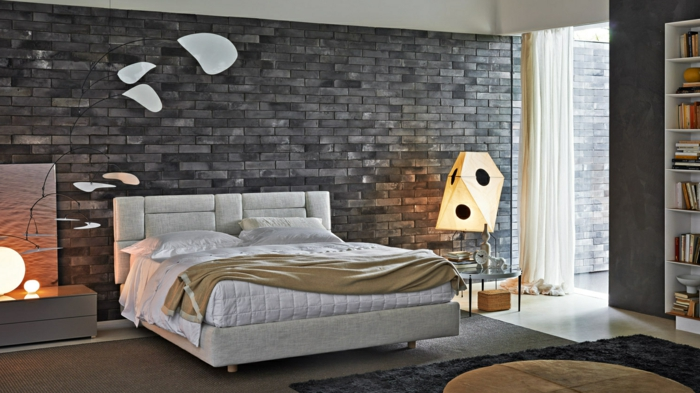 einige Ideen, wie Sie ein Schlafzimmer modern gestalten mit Designer Lampen