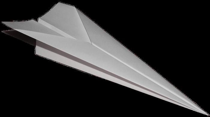 ein weißer fliegender papierflieger, bastelideen mit papier, einen weißen papierflieger falten