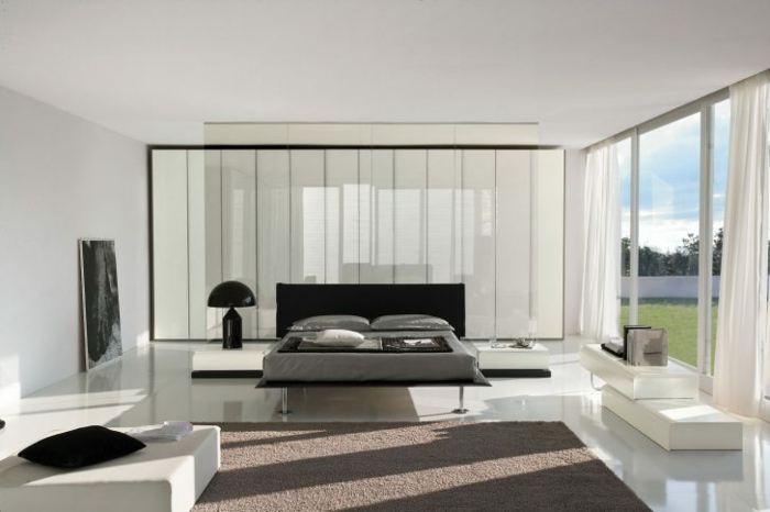 Kriegen Sie Schlafzimmer Inspiration aus diesem Bild von minimalistischem Schlafzimmer