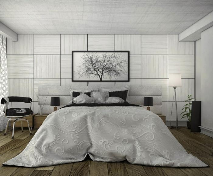 ausgezeichene Schlafzimmer Inspiration von einer schwarz weiße Einrichtung