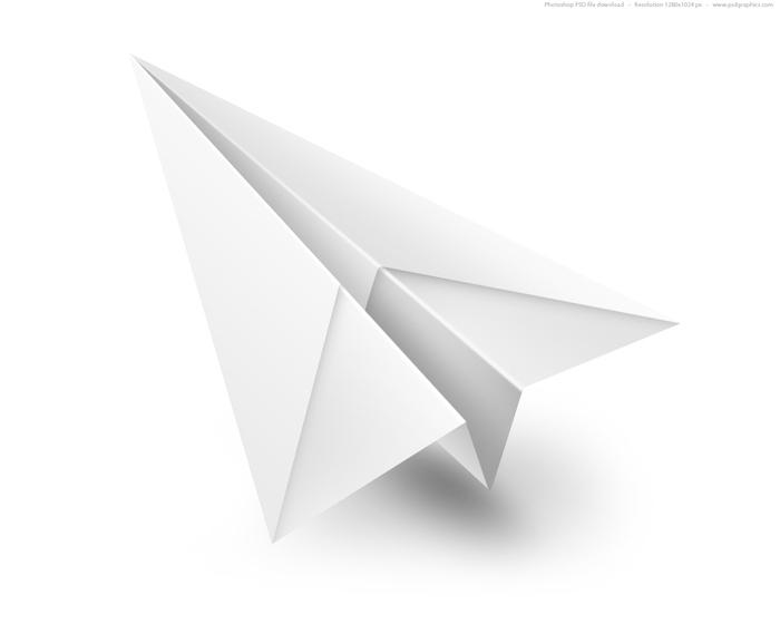 ein fliegender weißer papierflieger, einen papierflieger falten a4