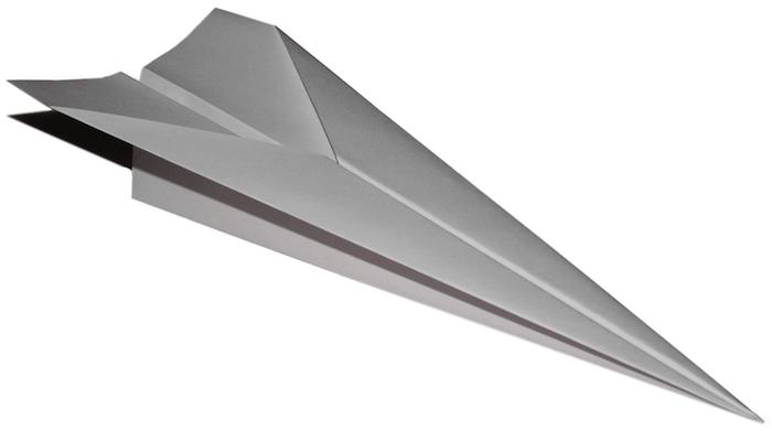 ein kleiner fliegender weißer papierflieger, bastelideen mit papier, einen papierflieger basteln