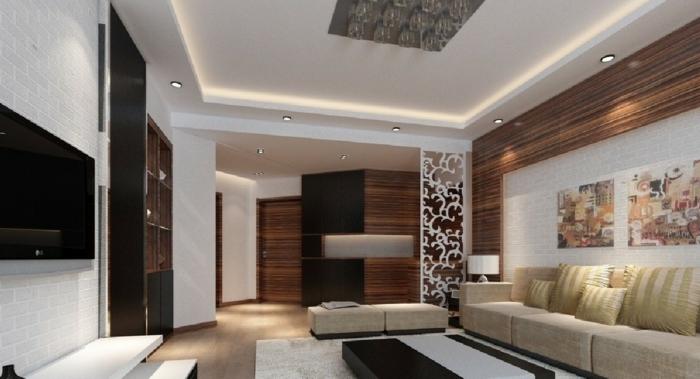 dekorierte Trennwand für Zimmer, mit Mustern von abstrakten Blumen