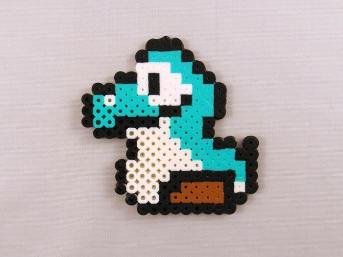 ein kleines Geschöpf, das als Pferd dient von Super Mario Spiel, Bügelperlen Anleitung, wie man es schafft