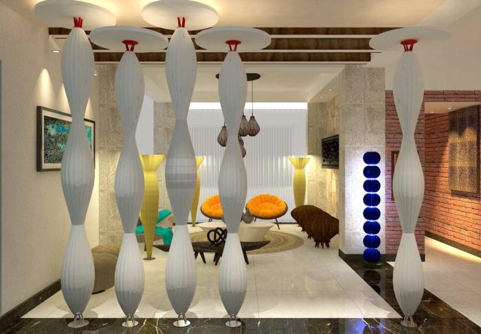 mit Photoshop Projekt für moderne Trennwand für Zimmer, um zu sehen wie die Wohnung aussehen wird