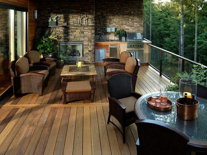 wie ein zusätzliches Zimmer, die Terrasse gestalten, auf der Terrasse kochen