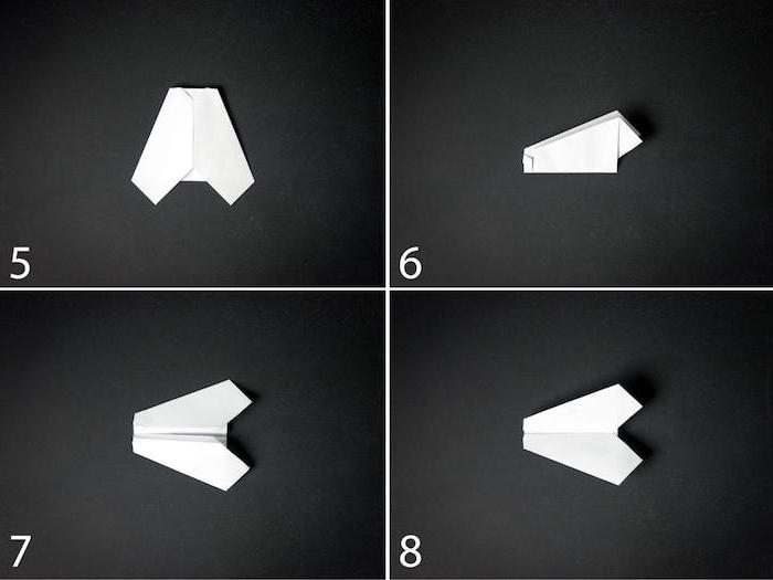 weißen kleinen papierflieger selber machen, basteln mit papier, eine diy papierflieger anleitung in vier schritten, basteln mit papier