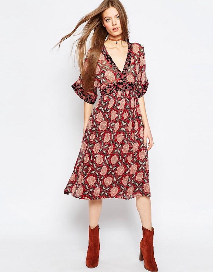 rote informelle kleider für hochzeitsgäste wenn das fest nicht so elegant veranstaltet wird können sie auch besonders bequeme kleider tragen