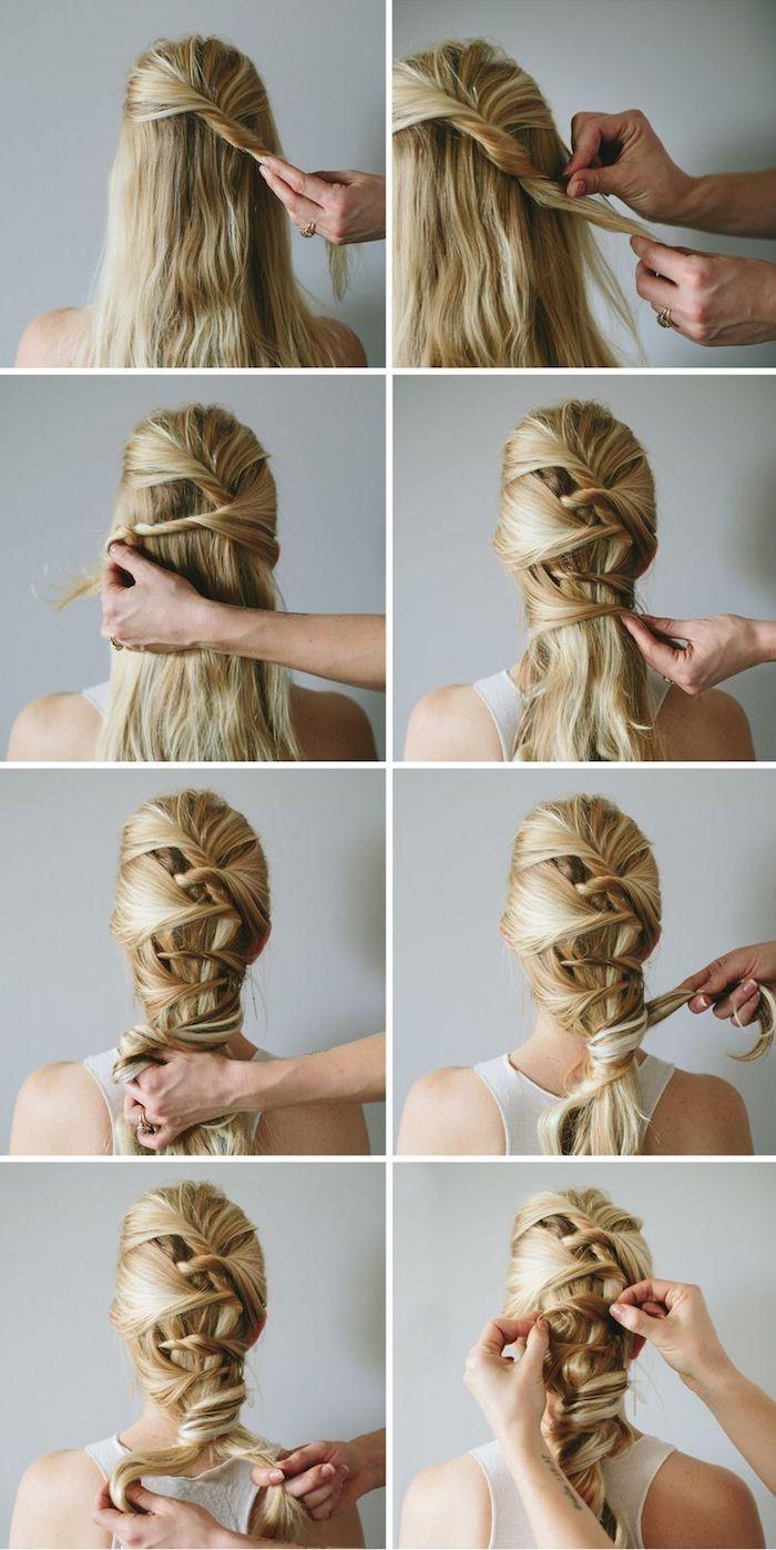 frisuren lange haare, flechtfrisuren zum nachstylen, alltagsfrisur für lange haare