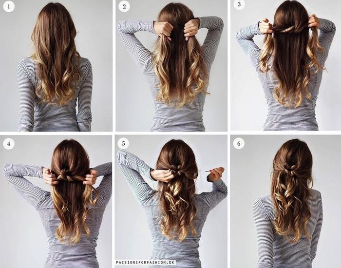 frisuren für lange haare, alltagsfrisur selber machen, frisuren für mittellange haare