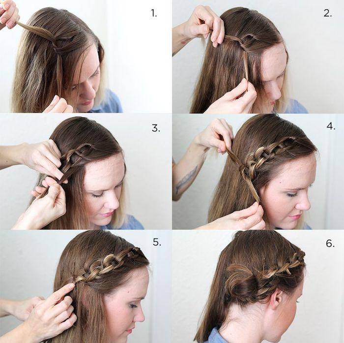 frisuren für lange haare, lange haare flechten, flechtfrisur selber machen