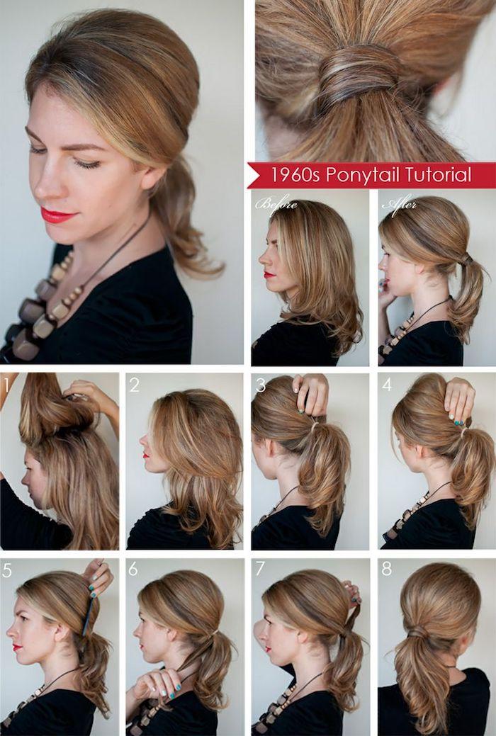 frisuren selber machen, alltagsfrisur, pferderschwanz selber stylen