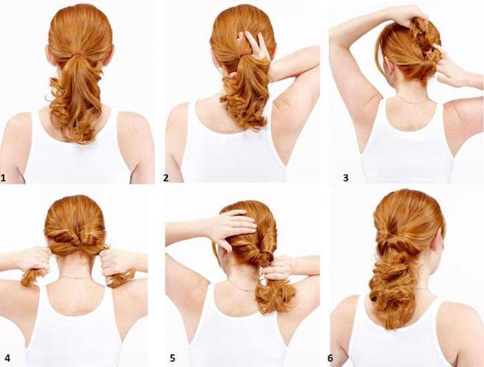 frisuren selber machen, frau mit roten haaren, frisuren für lockige haare