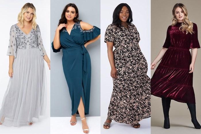hochzeitsgast kleid ideen für elegante mollige damen vier modelle und designs farben