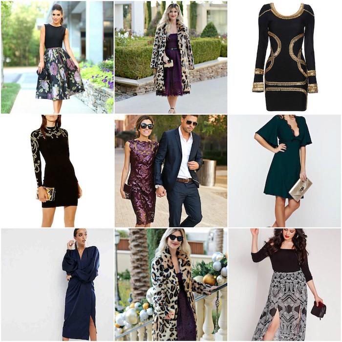 hochzeitsgast outfit neun ideen auf einem bild dunkle farben bei einer hochzeit tragen passend zum herbst und winter