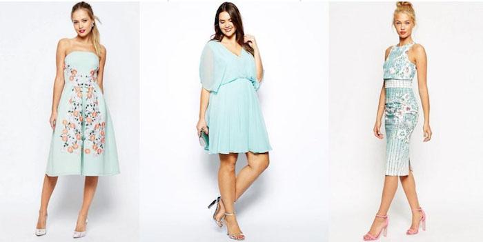 blaue hochzeitsgast outfit ideen für die eleganten damen frauenmode hochzeit besuchen gast