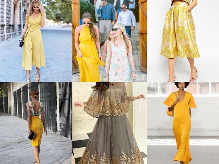 schönes hochzeitsgast outfit sechs ideen in gelb und beige farbenfrohes outfit fröhliche feste