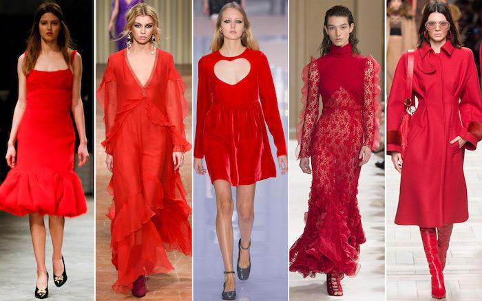 ein kleid oder jumpsuit hochzeit ideen in rot rote bekleidung für damen mode bühne fashion