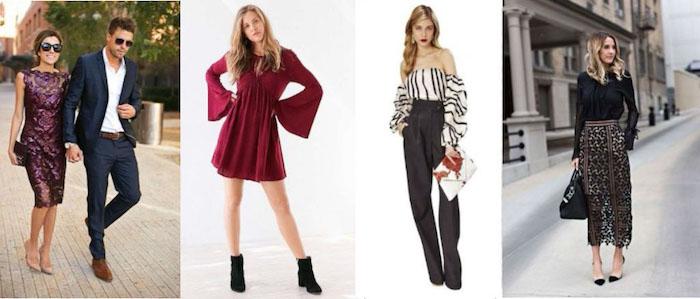 damen und herrenmode hochzeitsgäste outfit ideen kleider für hochzeit vier kleiderdesigns